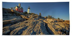 Pemaquid Point Bath Towel by Rick Berk