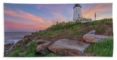 Pemaquid Point Sunset Hand Towel