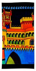 Pena Palace Portugal Hand Towel by Dora Hathazi Mendes