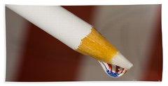 Pencil Flag Drop Hand Towel