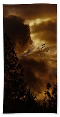 Bath Towel featuring the photograph Pending Storm by Diane Schuster