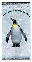Penguin Christmas Bath Towel by Steve Karol