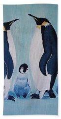 Penguin Family  Bath Towel