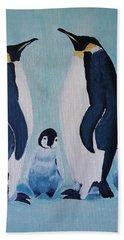 Penguin Family  Hand Towel