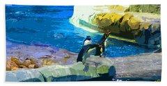 Penguins At The Zoo Bath Towel