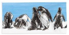 Penguins Bath Towel