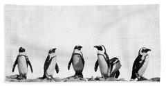 Penguins Hand Towel