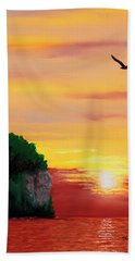 Peninsula Park Sunset Bath Towel