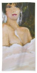Bath Towel featuring the painting Sophie by Ed Heaton