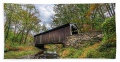 Pennsylvania Covered Bridge In Autumn Hand Towel