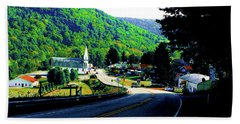 Pennsylvania Mountain Village Hand Towel