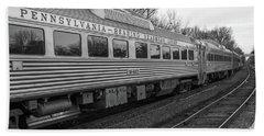Pennsylvania Reading Seashore Lines Train Bath Towel by Terry DeLuco