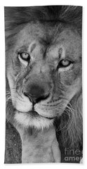 Pensive Black And White Hand Towel