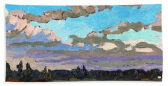 Pensive Clouds Bath Towel