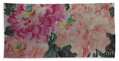 Bath Towel featuring the painting Peoney20161230_6246 by Dongling Sun