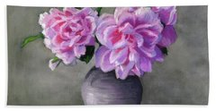 Peonies Bath Towel