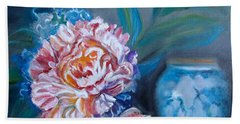 Peony And Chinese Vase Hand Towel
