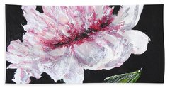 Peony Bloom Hand Towel by Betty-Anne McDonald