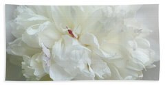 Peony In White Hand Towel