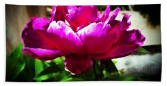 Hand Towel featuring the photograph Peony by Joseph Frank Baraba