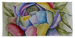 Peony Of Many Colors Hand Towel