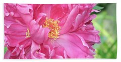 Hand Towel featuring the photograph Peony Perfection by Lynda Lehmann