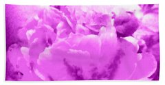 Peony Raspberry Purple - Orchid Frost Peony Hand Towel