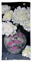 Peony Splendor In Floral Vase Bath Towel