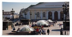 People At Manezh Exhibition Center Hand Towel by Panoramic Images