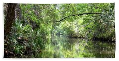 Hand Towel featuring the photograph Pepper Creek by Carol Bradley