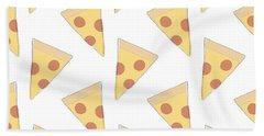 Pepperoni Pizza- Art By Linda Woods Hand Towel