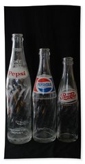 Pepsi Cola Bottles Hand Towel by Rob Hans