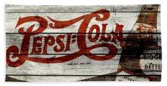 Pepsi Cola Vintage Sign 4a Hand Towel