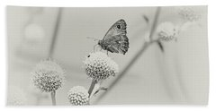 Perched Butterfly No. 255-2 Bath Towel