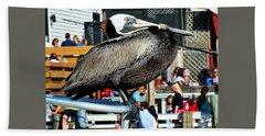 Perched Pelican Bath Towel