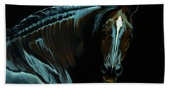 Percheron Mare In The Moonlight Hand Towel
