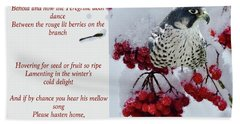 Peregrine Song Hand Towel