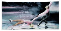 Olympic Figure Skating Paintings Hand Towels