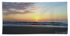 Perfect Jersey Shore Sunrise Hand Towel by Mary Haber