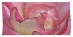 Pink Rose Petals Bath Towel by Joann Copeland-Paul