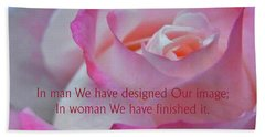 Bath Towel featuring the photograph Perfected In Woman by Agnieszka Ledwon