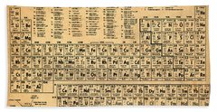Periodic Table  Of The Elements Bath Towel