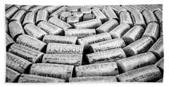 Bath Towel featuring the photograph Perissos Vineyard Wine Corks by Andy Crawford