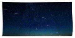 Perseid Meteor Shower Hand Towel