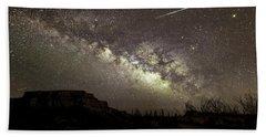 Perseids Milky Way Bath Towel