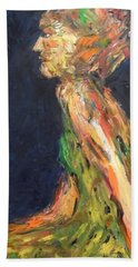 Hand Towel featuring the painting Persephone Queen Of The Underworld by Esther Newman-Cohen