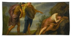 Perseus With Minerva Discovering The Sleeping Medusa Bath Towel