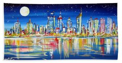 Perth Under The Full Moon Bath Towel