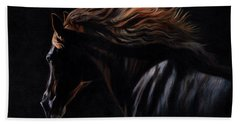 Hand Towel featuring the painting Peruvian Paso Horse by David Stribbling