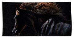Peruvian Paso Horse Hand Towel by David Stribbling